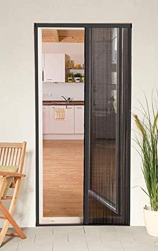 Mosquitera corredera puerta smart plegable de aluminio, 125 x 220 cm, gris recortable, compatible con puertas y ventanas: Amazon.es: Bricolaje y herramientas