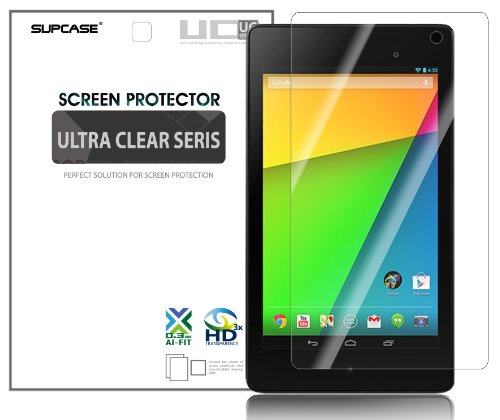 SUPCASE Premium Ultra Clear Screen Protector for New Google Nexus 7 FHD 2nd Generation Tablet (2 Pack, Compatible with ASUS Google Nexus 7 Full HD 2 2.0 II Tablet 2013 Version) by SUPCASE