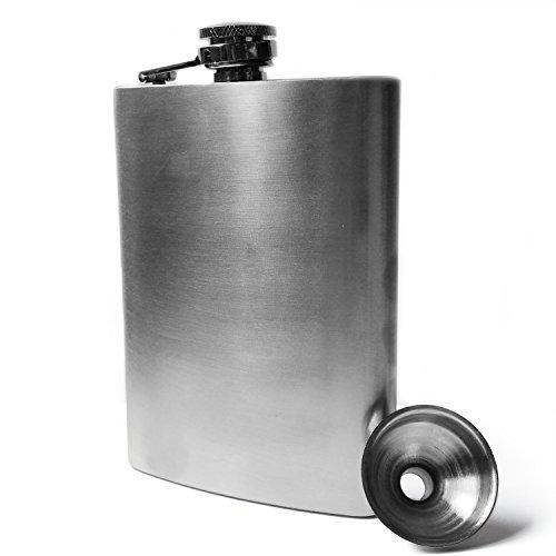 Medo Stainless Steel Hip Flask & Funnel Set, 8 oz - Leak Proof