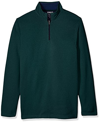 IZOD Men's Tall Saltwater Solid 1/4 Zip Sweater, June Bug Heather, 4X-Large Big by IZOD