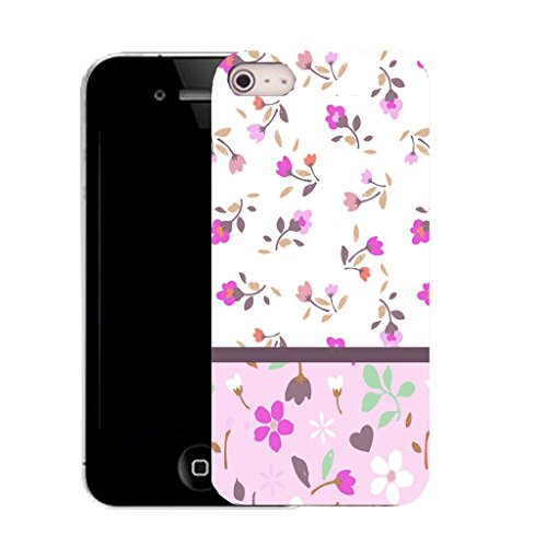 Mobile Case Mate IPhone 5S clip on Silicone Coque couverture case cover Pare-chocs + STYLET - vivid floral pattern (SILICON)