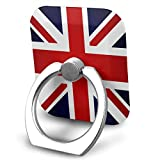 Ring Holder British-Flag Ring Phone Holder Adjustable 360° Rotation Finger Ring Stand for IPad, Kindle, Phone X/6/6s/7/8/8 Plus/7, Divi, Accessories Desk, Android Smartphone