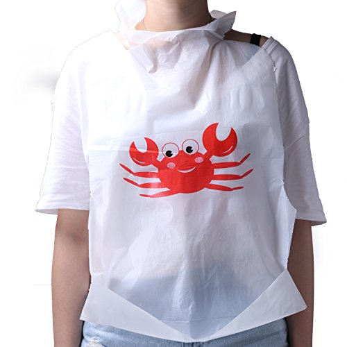 90-Piece Party Supply Crab Bibs Seafood Feast Adult Disposable Bibs Protect Clothes from - Sale Black Fri