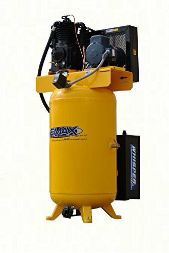 5 HP Quiet Air Compressor, Vertical, 1 PH, 80-Gallon, Industrial Plus Series, Model ESP05V080I1 by EMAX Compressor