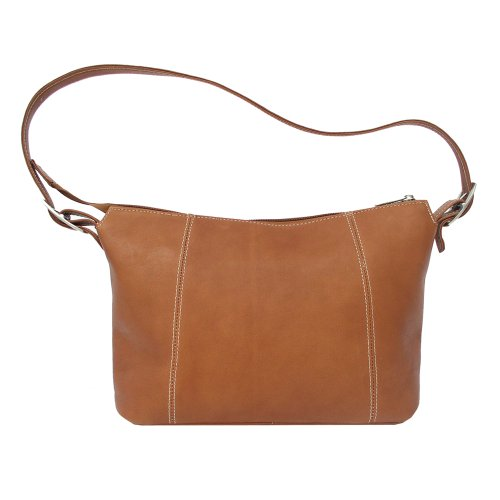 Piel Leather Medium Shoulder Bag, Saddle, One Size
