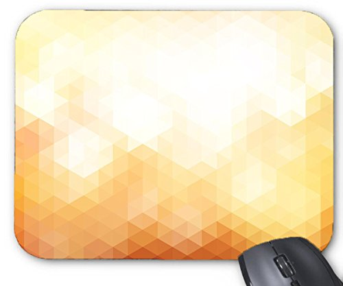 Mouse Mat Gradient Yellow HD Triangle Geometric Creative Mouse - Keyboard M20