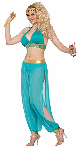 Harem Dancer Adult Women Costumes (Forum Novelties Belly Dancer Harem Top Adult Costume (Green)-Standard)