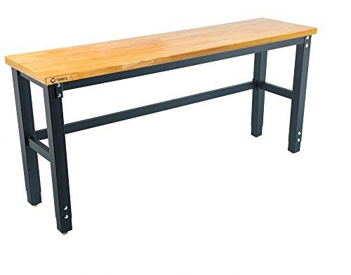 TRINITY TLS-7202 Wood Top Work Table, 72