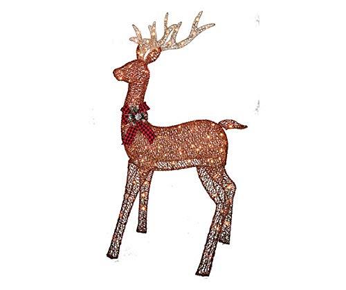 BL Stores - 12-105046-A - Glittering Buck - Lighted - Brown (5 Feet Tall) (Reindeer Light Up Decoration Outdoor)