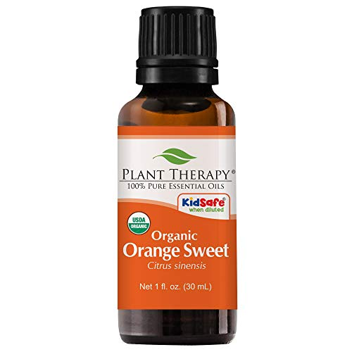 Plant Therapy Orange Sweet Organic Essential Oil | 100% Pure, USDA Certified Organic, Undiluted, Natural Aromatherapy, Therapeutic Grade | 30 milliliter (1 ()