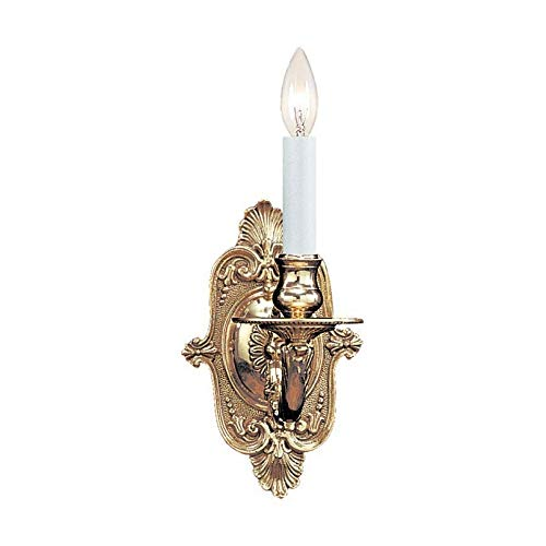 Traditional 1 Light Candle Wall Sconce Finish: Polished Brass 1 Light Candle Wall Sconce