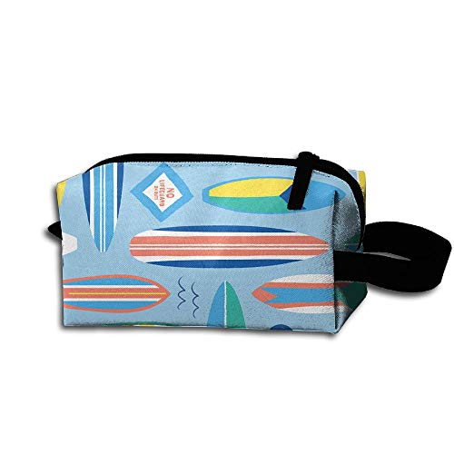 Colby Keats Cosmetic Makeup Bag Surf Board Blog Pouch Toiletry Storage Bag Portable Lightweight Travel Toiletry Bag for Women Girls ()
