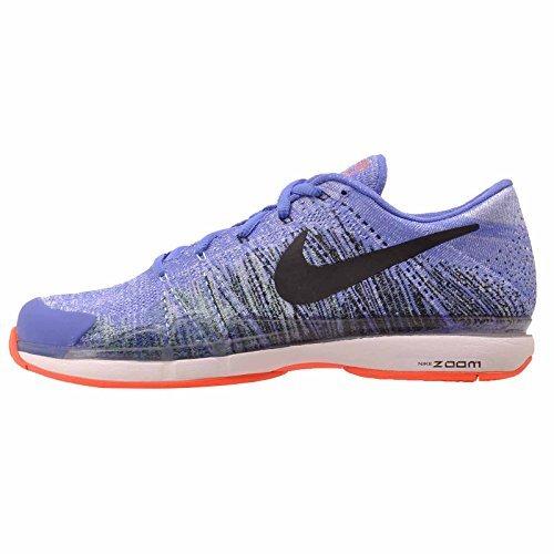 Nike Zoom Vapor Flyknit 885725 400 Blue Black White Orange  10 5