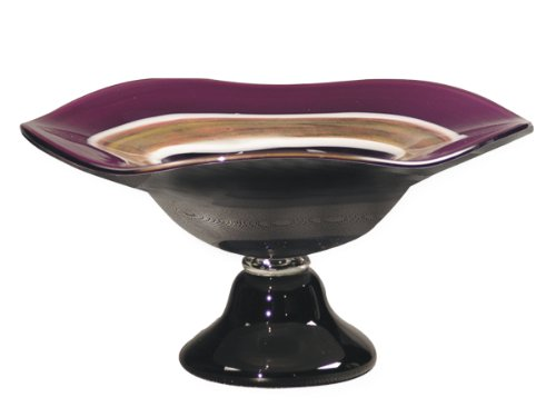Dale Tiffany AG500285 Melrose Footed Decorative Bowl, 16-Inch by 7-1/4-Inch