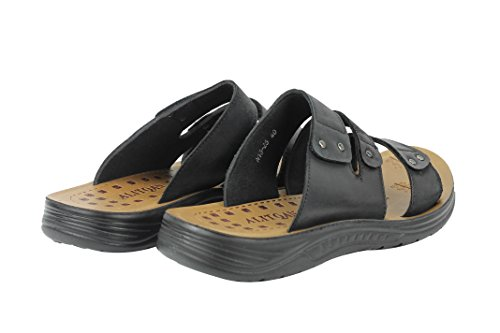 Mens Leather Sandals Cross Straps Open Toe Front Beach Walking Slip On Slippers Black Brown Black ynSPN2y9