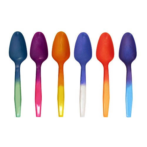 Color Changing Reusable Mood Spoon, Set of 24, Assorted Colors, BPA Free ()