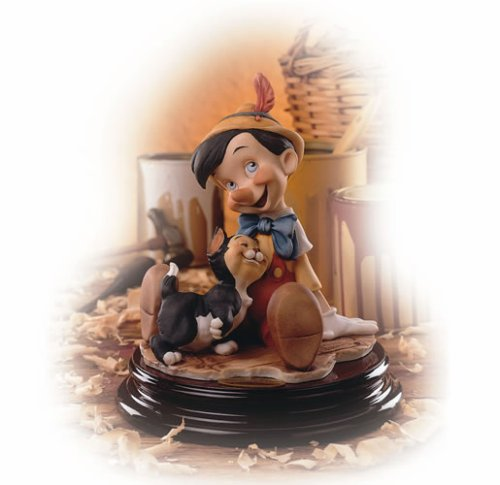Giuseppe Armani-Disney Showcase-Pinocchio Figurine Pinocchio and Figaro 464-C