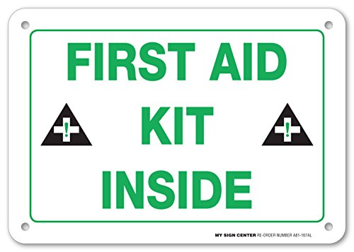 First Aid Box Sign (First Aid Kit Inside Sign - 10