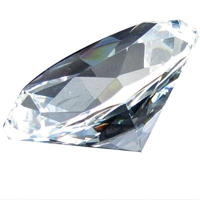 1 X Giant Clear Cut Glass Diamond-shaped Crystal
