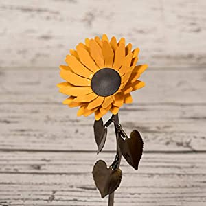 Personalized Hand-Forged Wrought Iron Sunflower - Valentine's Day Gift 2