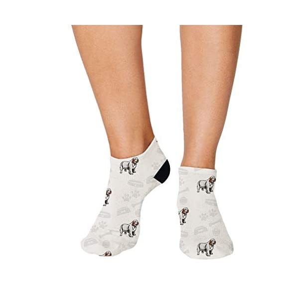 No Show Socks Clumber Spaniel Dog Polyester Ankle Socks Women & Men Crazy Fun Socks 1 Size 1