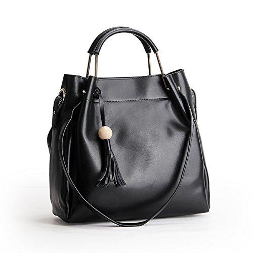 handle Cross Elegant Fashion Design Lf Black Top Dissa body Women Handbag Leather Bag Shoulder m168 xqAqzYPX