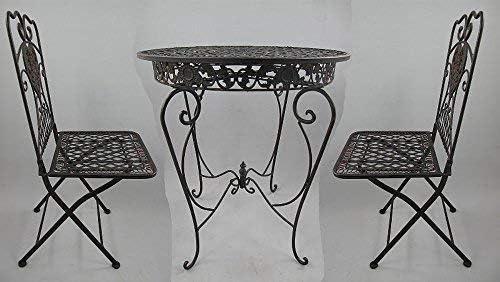 Linoows Tête-à-tête Juego de Jardín, Hierro Mueble Asiento de Varias Plazas, Muebles de Jardín, Marrón: Amazon.es: Hogar