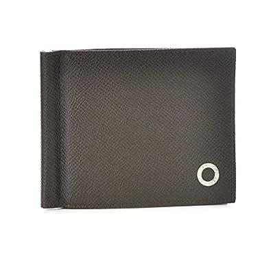 41e0622fd66c BVLGARI(ブルガリ) 財布 メンズ グレインレザー マネークリップ 2つ折り財布 ダークブラウン 36332-