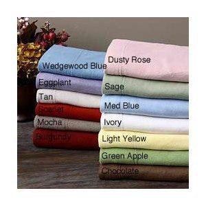 Cozy Fleece Microfleece Sheet Set, Queen, Ivory ()
