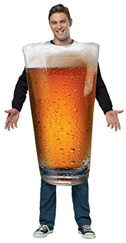UHC Get Real Beer Pint Tunic Funny Theme Party Adult Halloween Costume, OS