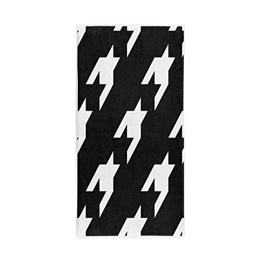 Pinbeam Bath Towel Abstract Pattern Houndstooth Mosaic Material Bats Black Blazer Towel Towel