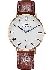 Swiss Brand Nice Fashion Minimalist Men's Dress Watch Waterproof, Rose Gold Case Business Casual Men's Wrist Watch