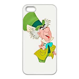 iPhone 5,5S Phone Case White Alice in Wonderland Mad Hatter YU9395609
