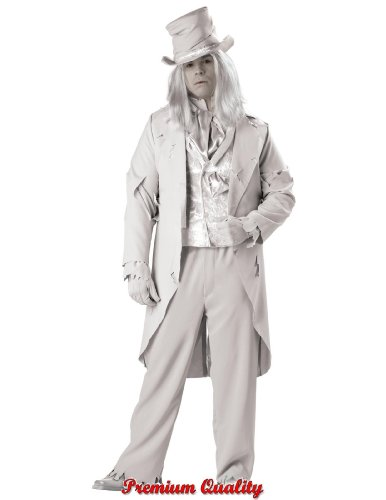 InCharacter CostumesMen's  Ghostly Gent Plus Sized Costume, Gray, XXX-Large by Fun World
