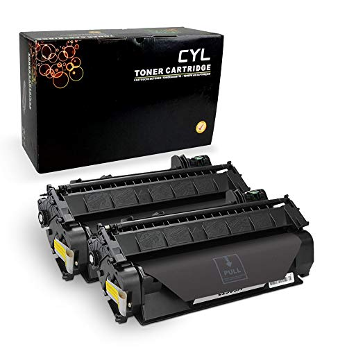 (CYLToner Compatible Toner Cartridge Replacement for HP 05A CE505A HP Laserjet P2055DN P2035N P2055D P2055X Laserjet P2055 P2035 P2030 P205 2035 2055 (Black) 2-Pack)
