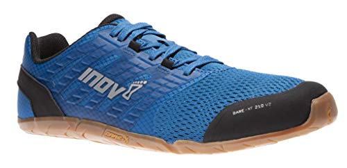 Inov-8 Mens Bare-XF 210 V2 - Barefoot Minimalist Cross Training Shoes - Zero Drop - Wide Toe Box - Versatile Shoe for Powerlifting & Gym - Calisthenics & Martial Arts - Blue/Gum 12 M US (Best Crossfit Shoes 2019)