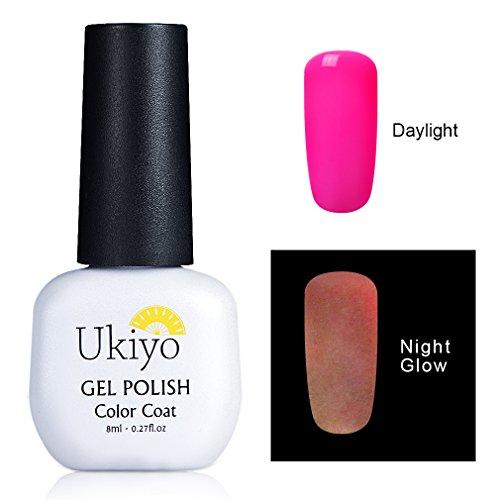 Ukiyo Night Glow Gel Nail Polish Effect UV LED Soak Off UV LED 8ml/0.27fl.oz Dramatic Manicure Decor Kit Nail Art (Glow In The Dark Makeup Kit)
