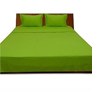 500-hilos AviSales 66,04 cm pulgada{0} bolsillo profundo sábana bajera eggelston doble loro verde rayas 100% algodón egipcio 500tc