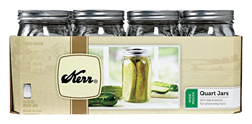 (Kerr 0519 wide mouth jar quart, 32oz (case of)