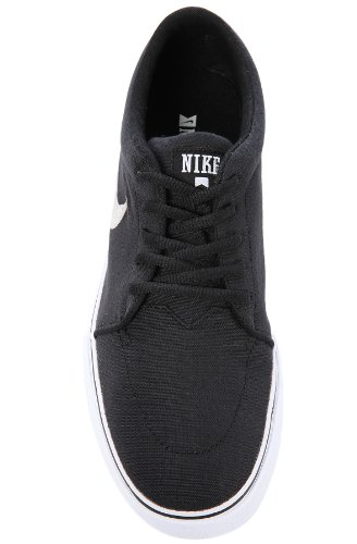 Nike Skateboarding Hombres Satire Canvas Negro Metálico Plata Negro 001