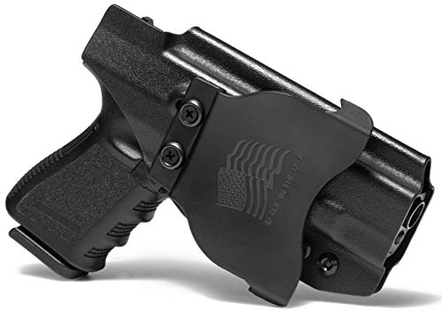 Concealment Express OWB Paddle KYDEX Gun Holster: fits Glock 19/19X/23/32/45 - Custom Fit - US Made - Outside Waistband - Adj. Cant & Retention (Best Owb Holster For Glock 19 Concealed Carry)