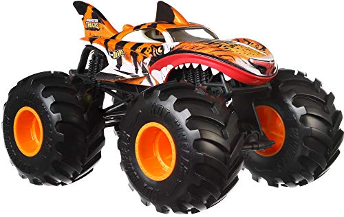 Hot Wheels Tiger Shark Monster Truck, 1:24 Scale