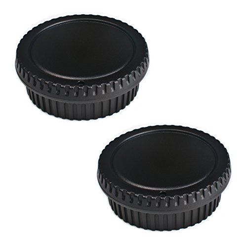 (2 Pack) VKO Front Body Cap & Rear Lens Cap Replacement for Canon EOS 60D 70D 77D 80D 7D 5D Mark II III IV 750D 760D Rebel T6 T6i T7i T6S SL1 T3 T3i T4i T5i T5 XS Camera Body & EF Lens Replaces RF-3