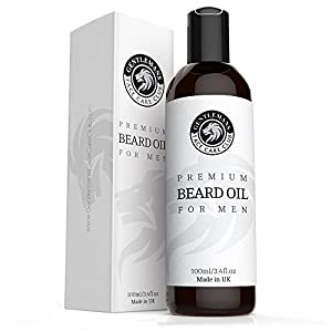 Beard Oil - Extra Large Bottle 3.4oz - Premium Beard Conditioning Oil For Men With Subtle Scent - Nourish And Thicken Hair Giving Shine Without A Greasy Residue