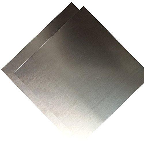 Aluminum 3003 Plate - RMP 3003 H14 Aluminum Sheet 12 Inch x 12 Inch x 0.125 Inch - 2 Pack