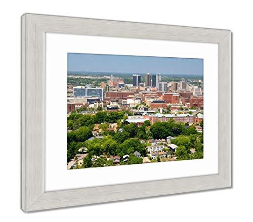 (Ashley Framed Prints Downtown Birmingham, Alabama, Wall Art Home Decoration, Color, 34x40 (Frame Size), Silver Frame, AG32675405)
