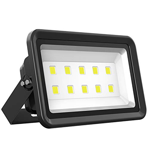 Dimgogo LED Flood Light 500W, Outdoor Waterproof IP65 50000lm Super Bright Flood Lamp Cool White 6000K Spotlight Lamp Daylight for Garden Yard, Party, Playground, Stadium and -