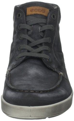 Ecco Androw Black Khara - Zapatos con cordones de cuero hombre negro - negro