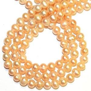- Steven_store NP522 Light Pink 6mm - 7mm Semi- Round Cultured Freshwater Pearl Beads Making Beading Beaded Necklaces Yoga Bracelets