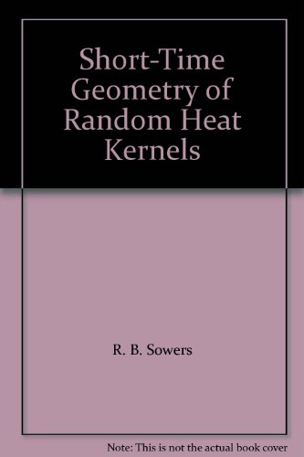 Short-Time Geometry of Random Heat Kernels: March 1998 (Memoirs of the American Mathematical Society)